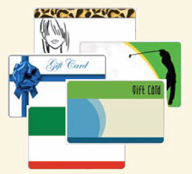 Image of 4 gift cards - simple designs